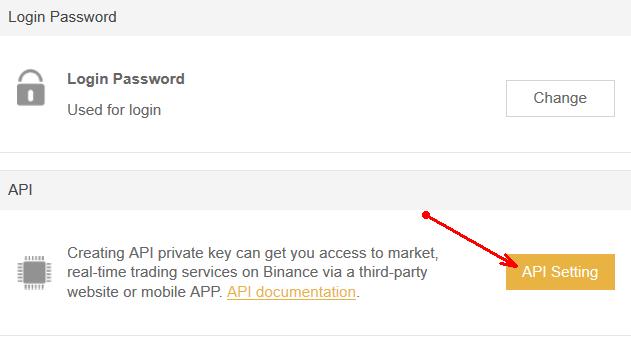Binance API Keys