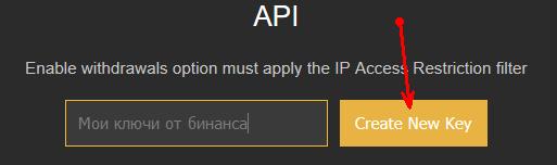 Binance API Key