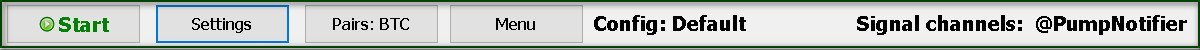 Main screen top bar